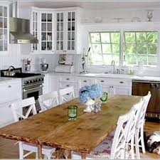 Farm Table With 6 White Chairs Without End Chairs