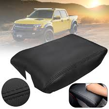 100 Ford Truck Center Console For F150 Raptor 2009 2010 2011 2012 2013 2014 Black PU Leather