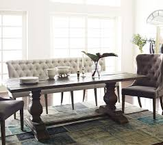 French Tufted Upholstered Dining Bench Banquette Room Design Table Decor Dinning