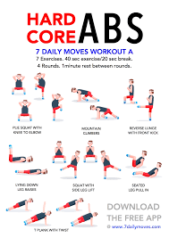Hard Core ABS Workout Exercise 7DailyMoves