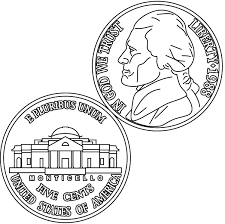Nickel Coloring Page Inside Coin Pages
