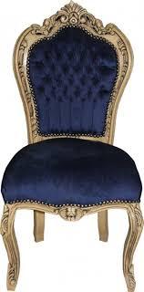 casa padrino barock esszimmer stuhl royalblau wood möbel