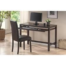 idabel dark brown wood modern desk with glass top free shipping