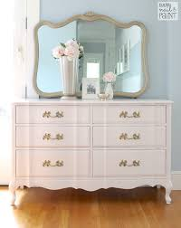 Dresser Mirror Mounting Hardware by Silky Smooth French Provincial Dresser With Mirror Chalk Paint