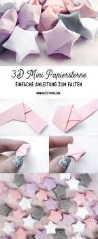 DIY 3D Papiersterne Falten Anleitung Fur Origami Sterne