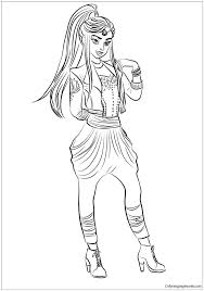 Coloring Pages Descendants 2 Page Fun Time Best Images On Of Evie