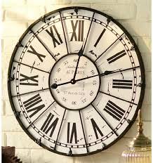 rooms big black decorative classic iron wall clock