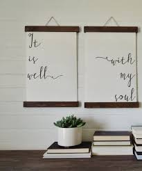 Be Still My Soul Calligraphy Wall Art Canvas Print Wood Sign Decor Set Of