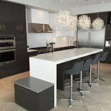 comptoir de cuisine quartz blanc cuisine en quartz blanc nuance design