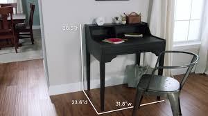 Threshold Campaign Desk Dimensions by Small Black Wood Tilley Storage Desk World Market