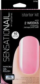 sensationail invincible gel polish starter kit pink chiffon 1 0