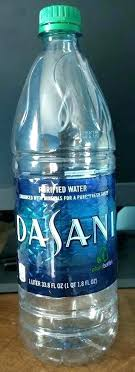 Case Of Dasani Water Lemon A One Liter Bottle