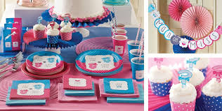 Halloween City Mcallen Tx Hours by Little Man Little Miss Gender Reveal Party Supplies Party City