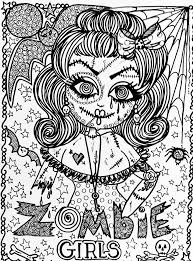 The Zombie Girl Complex Drawing For Halloween From Gallery Events Free Printable Coloring PagesAdult