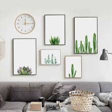 Details About Green Bamboo Leaves Canvas Art Painting Poster Living Room Home Nordic Decor