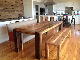 Kitchen Tables With Benches Full Size Of Rustic Trestle Dining Room Nice