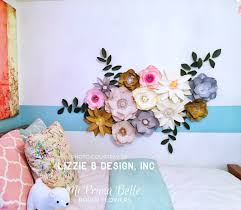 Paper Flowers For A Girls Bedroom Or Playroom Wall Decor Birthday Party Props Wedding Event Backdrop Photography Baby Nursery