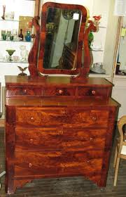 antique 1850 s cherry chest of drawers dresser wishbone mirror