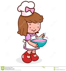 Baking Clipart Kid Kitchen Pencil And In Color