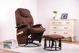 Amazon.com : Merax® Home Furniture Ergonomic Suede Fabric Swivel ... Living Room Exciting Rockers Gliders Ottomans Recling Rocking Chair With Ottoman Lacaorg Harriet Bee Hemsworth Glider Recliner Ottoman Wayfair Matching Adams Fniture Smothery And Chair Rocker Then Baby Latitude Run Sao Recling Massage Reviews Artage Intertional Emma And Stoney Creek Hcom 2 Piece Rocking Set White Aosom 100 With Amazoncom Dutailier Sleigh Glidermulposition Recline Essential Home