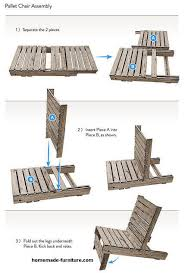 Pallet chair DIY plans free easy examples for homemade garden chairs