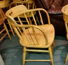 vintage boling chair co solid oak firehouse captains chair bar