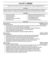 Delivery Driver Resume Examples Example Doc No Experience Truck Ups ...