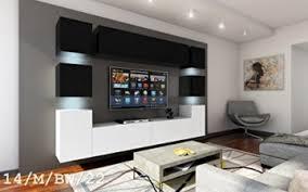 future 14 wohnwand anbauwand möbel wand schrank wohnzimmer wohnzimmerschrank matt schwarz weiß sonoma led rgb beleuchtung 14 m bw 22 led blau