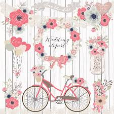 Premium VECTOR Rustic Wedding Clipart Bicycle Shabby