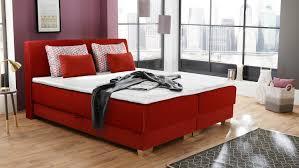 boxspringbett julias bett schlafzimmerbett rot mit topper