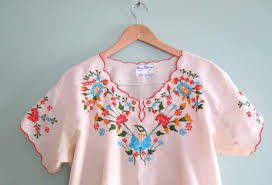 vintage mexican embroidered blouses black dressy blouses