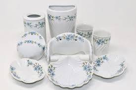 porcelaine de 9 teiliges badezimmer set porzellan