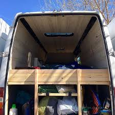 Sprinter Van Conversion Diy Headboard And Nightstand