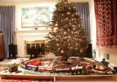Christmas Tree Train Set Go Around Endearing Pleasing Amazing