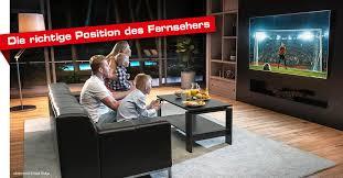 die richtige position für den fernseher finden faustmann