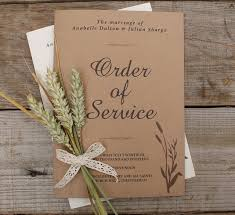 Wheatgrass Order Of Service Booklets A5 With Printed Inserts From Razzle DazzleRose
