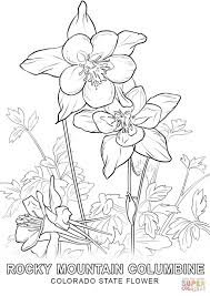 Click The Colorado State Flower Coloring Pages