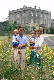 Prince Charles Of Wales And Diana Princess Pose With Their Sons