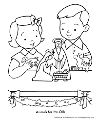 Christmas Nativity Scene Decorations Coloring Page