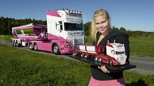 100 Girls On Trucks Pictures Scania Blonde Girl Automobile 2560x1440