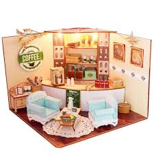 Wholesale Happy Times Wood Dollhouse Miniature LED Light Assembled