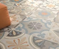 carrelage imitation anciens carreaux de ciment décor formes
