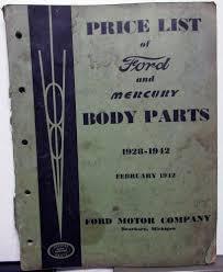 100 Ford Truck Body Parts 19281942 Mercury Dealer Price List Book Catalog
