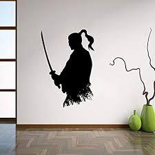 onetotop samurai katana wandtattoo vinyl aufkleber