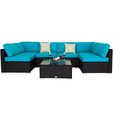 Ebay Patio Furniture Sectional by Kinbor 7pc Patio Sofa And Table Set Outdoor Indoor Sectional