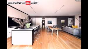 wohnzimmer küche esszimmer in einem offen holzboden