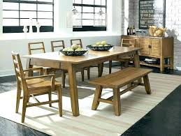Dining Table With Bench Seats Room Benches Attractive Sets