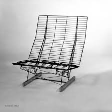 Eames Sofa Compact Used by This Folding Wire Sofa Was Made Of The Same Materials And Used The