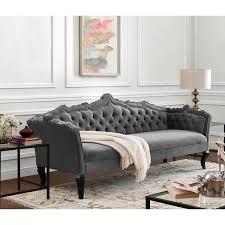 Tufted Velvet Sofa Toronto by Moulin Grey Velvet Button Tufted Sofa With Grey Velvet Tufted Sofa