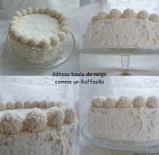 gâteau boule de neige à la noix de coco et aux raffaello mes